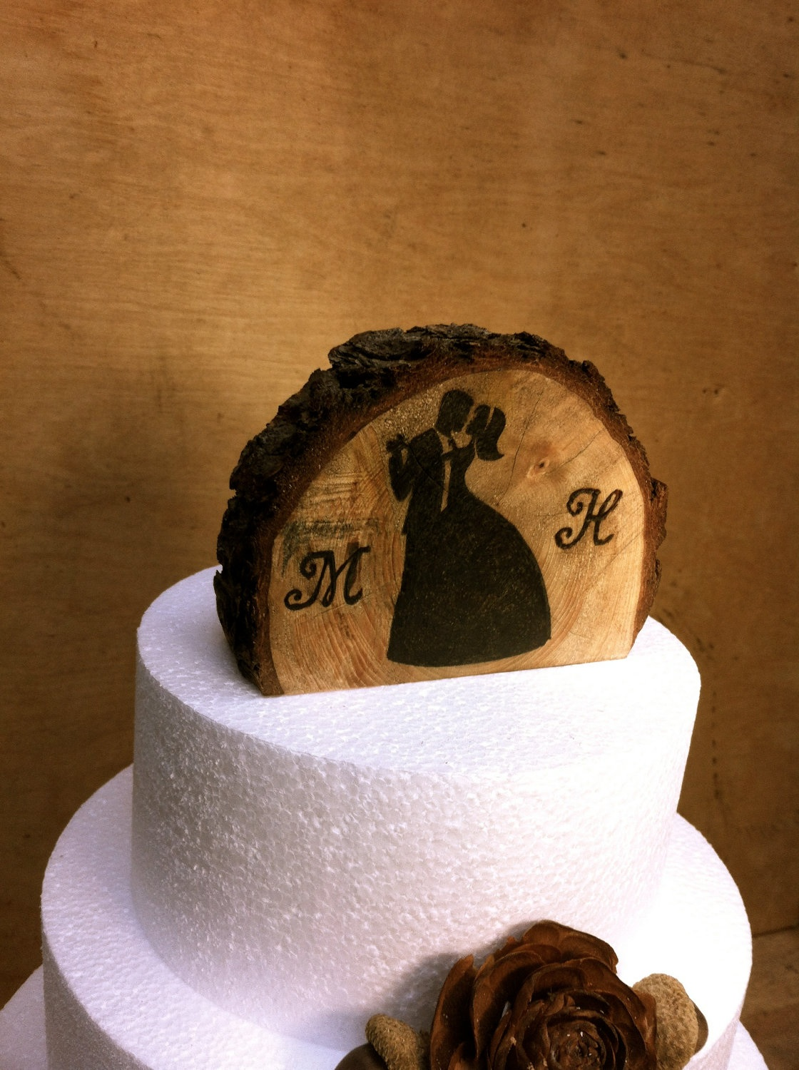 Rustic Wedding Cake Topper on Luulla